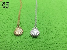 1PCS- N025 Cute Seashell Necklace Animal Conch Sea Shell Necklaces Nautical Scallop Necklaces for Women Ocean Beach Party