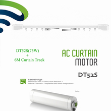 Ewelink Dooya DT52S Electric Curtain Motor 220V Open Closing Motorized 75W Motor+6M Window Curtain Rail Track Smart Home System(China)