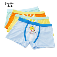 4piece/YinGan&hot 2017 Chinese Children Children Underwear Cartoon boy Underwear Wholesale Manufacturers Boxer Tong Modal 2-9Y(China)