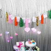 Bling Bling Party Supply Sparkly Gold Tablecloth Sliver Sequin Glamorous Wedding Backdrop Birthday Decoration