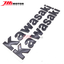Motorcycle decals stickers 3D stereo Logo graphics set kit For Kawasaki Z750 Z800 ZX-6R ZX-9R ZX-10R Black Color(China)