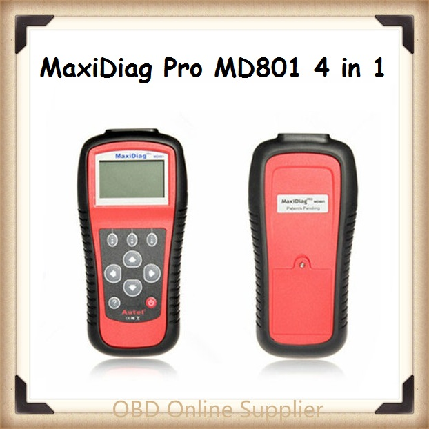 2016 Original Multi-Functional Scan Tool AUTEL MaxiDiag Pro MD801 4 in 1 Code Scanner MD 801 = JP701 + EU702 + US703 + FR704(China)