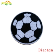 Fashion Sport Design Football Patch Stickers DIY Iron On Kids Cartoon Patches For Garments Embroidered Applique Logo Patch(China)