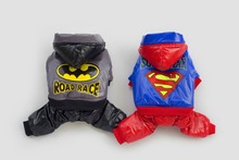 10pcs/lot Factory Sale Superman Batman Pet Dog thickness coat warm jacket hoody Outerwears New year clothes LPC902-21
