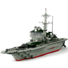 228pcs/set Cruiser Building Block Brick Army Military Ship Model Battle War Ship Navy Vessel Boat Toy Equipment Technic Designer