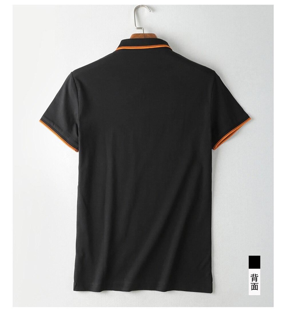 2018 New Arrival Brand Men\'s Summer Business Shirt Short Sleeves Turn-down Collar Polo Shirt Smart Casual pol Shirt Men Shirts (10)