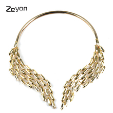 Crystal Choker Necklace 2017 Luxury collar short necklace For Women Trendy Chunky Neck Accessories Fashion Jewellery ZYJL005