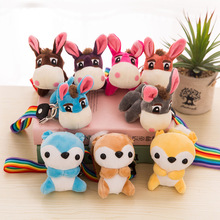 12 CM Fragrance kawaii little donkey doll mobile phone Automobile key chain pendant plush toys wholesale free shipping