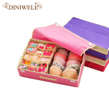 DINIWELL 15 Cell   Nonwoven Folding  Underwear Organizer Closet Drawer Storage Box For Socks Ties Bra Lingerie Divider Contanier