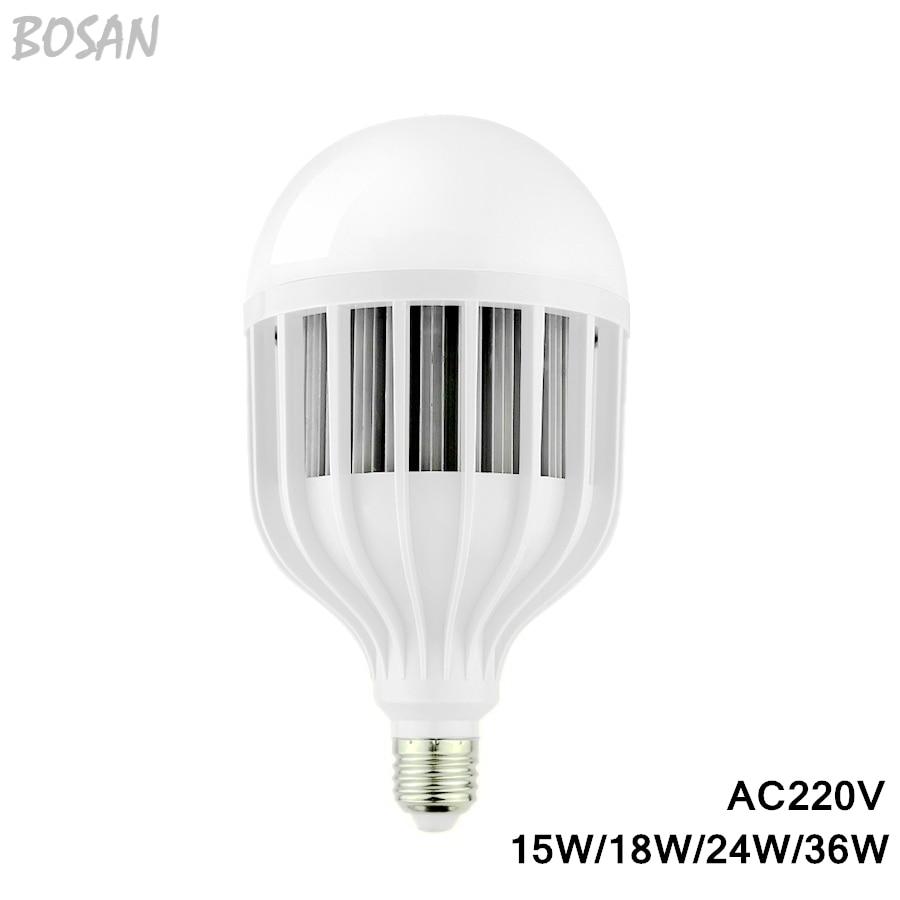 15W 18W 24W 36W E27 LED bulb E27 AC220V 5730 white and warm white led lamp light<br><br>Aliexpress