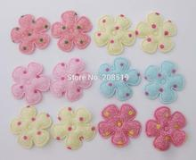 "PA0074 Headwear jewelry ornament patches Mix colors 120pcs 1"" Sunflower shape DIY Decorative Padded Felt"