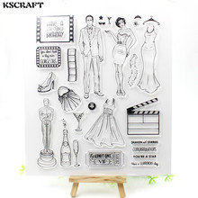 KSCRAFT You are a star Transparent Clear Silicone Stamps for DIY Scrapbooking/Card Making/Kids Fun Decoration Supplies Flower(China)