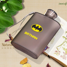 New Cartoon A5 Notebook 400ML Paper Square Flat Water Bottle Advertising Gift Portable Cover Student Movement Kettle Plastic