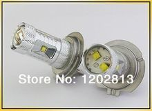 Free Shipping 2Pcs 30W H7 Bright 800 Lumen CREE Chip High Power LED Fog Light Bulb Lamp White DRL Headlight Daytime Running