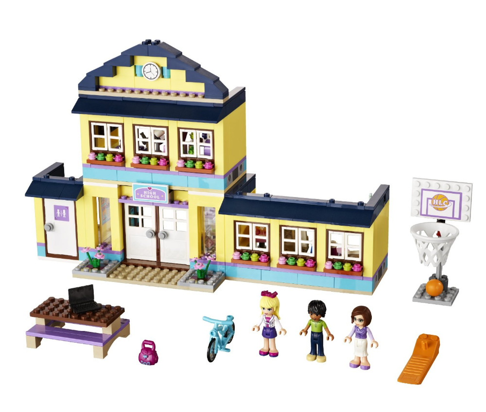 BELA Friends Series Heartlake High School Building Blocks Classic For Girl Kids Model Toys   Marvel Compatible Legoe<br><br>Aliexpress