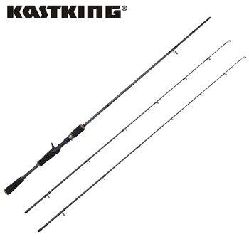 Kastking perigeo 1.98 m/2.10 m carbono mf y acción mh señuelo baitcasting caña de pescar hilado fundición varilla polo con 3 años de garantía