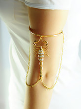 New European and American foreign trade jewelry, gold alloy scorpion chain arm ring