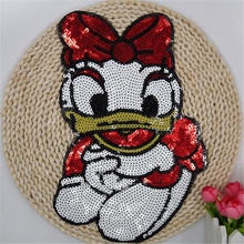 Fashion Embroidery patches for clothing Donald Duck logo cute letter sequins deal with it Owl DIY Motif Applique Free shipping