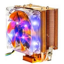 NEW Dual Heat Pipe 3pin Pwm Fan Cpu Cooler Heatsink For Intel for AMD Y002 In stock!
