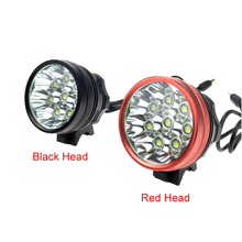 8T6 12000 Lumens 8 x C-XM-L T6 LED Headlamp Bicycle Bike Light 3 modes with 8.4v  6*18650 Battery Pack
