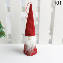 1Pc Cute Santa Claus Pendant Christmas Ornaments Xmas Festival Party Home Christmas Decorations For Home(China)
