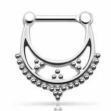 316L Stainless steel Septum clicker Beaded Collar Nose Ring Hoop Bull Ring Nose Cuff Septum Clicker Piercing Skull Wings