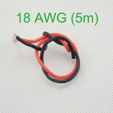 18 AWG (5m) Gauge Silicone Wire Flexible Stranded Copper Cables for RC Wiring