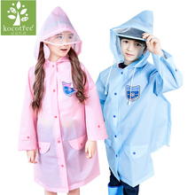 4-16 years old Children Raincoat Cartoon Kids Girls boys rainproof Rain Coat Waterproof Poncho Rainwear Student Rainsuit