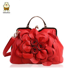 Beibaobao Women Handbag For Women Bags Leather Handbags Brands Women's Pouch Bolsas National Style Flower Bag Clutch Tote 2017