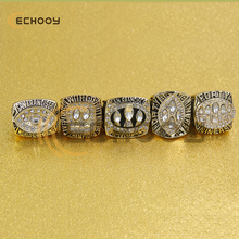 5pcs zinc alloy 1981/1984/1988/1989/1994 San Francisco 49ers Championship Ring set With Wooden Box(China)