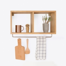collalily Nordic Wall Decoration Magazine Storage Holders Racks Oak wood Modern Design Hanger corridor Rails bookrack robe hook
