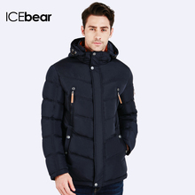 ICEbear 2016 Winter Jacket Men Fashion Design Brand Parka Men Clothing Zipper Coat Male With Pockets 16MD930(China)