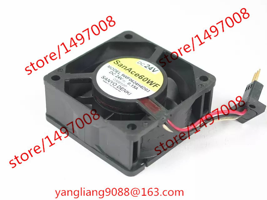 Free Shipping For Sanyo 9WF0624H4D03 DC 24V 0.15A 3-wire 3-pin connector 40mm, 60x60x25mm Server Square fan<br>