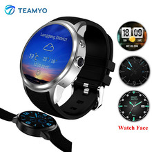 Teamyo X200 Smart Watch Phone 1.39'' Round Screen Heart Rate Smartwatch Android Support SIM card mp3 GPS smart watch with Camera