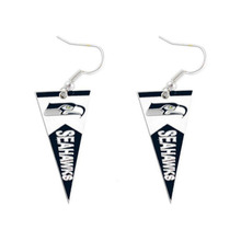 New 5 Pairs Football Fans Earrings Alloy With Enamel American Football Seattle Seahawks Charm Earrings(China)