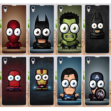 Best Selling Big eyes small Superman PC Hood Phone Cases For Sony Xperia Z1 L39H Moblie Phone Case Cover Capa Shell