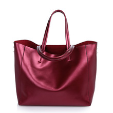 Luxury top genuine leather women handbags casual tote in party candy colourful beauty shoulder bag shopping brand