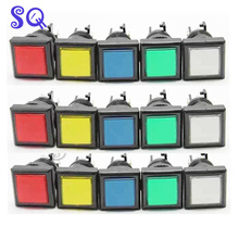 20pcs 32 x 32 Top Quality Square Push Button with microswitches and led lamp for slot Casino game machine/arcade cabinet