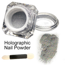 1 Box Holographic Laser Powder Nail Glitter Rainbow Chrome DIY nail art decorations 3D glitters Magic nail pigment