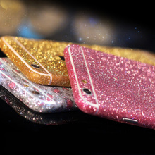 New For iPhone 5 5s SE 6S 6 Plus 4 4S 5C Bling Full Body Decal Skin Bling Glitter Phone Protective Sticker Wrap Phone Case