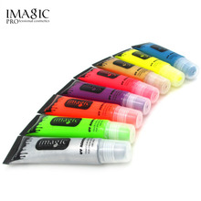 IMAGIC Body Neon Fluorescence Makeup Flash Painting Colorful Drawing Pigment Grease Henna Art Glow Fancy Party Cosplay Halloween(China)