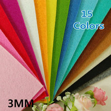 3MM Thick Felt Fabric - Pre-Cut 15 Sheets 30cm x 30cm - Mix Different color- 5 New Colors Adde(China)