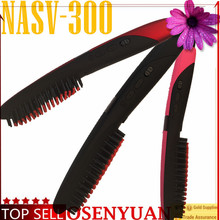 2016 Hot sales! 100% original cheapest branded hair straightener brush hair comb for long hair use (NASV-300)(China)