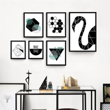 Black and White Decorative Wall Picture Canvas Geometric Mural Paper No Frame Nordic Drawing Children Room Art Poster Ornaments