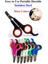 Lowest Price 200pcs/lot Pet Dog Cat Care Nail Clipper Scissors Grooming Trimmer Pet Animal Dog Toe Care Nail clippers Free Ship(China)