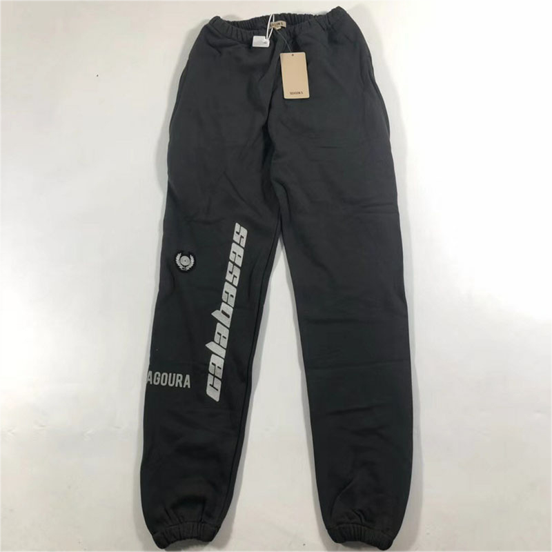 Hop Hop Season 5 Sweatpants Casual Drawstring Joggers Season 5 Sweatpants Kanye West New Calabasas Embroidery Season 5 Pants