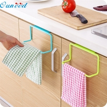 kitchen organizer Ouneed cocina Towel Rack Hanging Holder Organizer Bathroom Kitchen Cabinet Cupboard Hanger Dec14