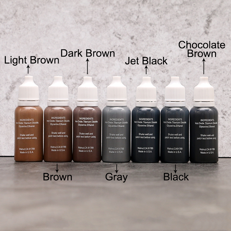 Free Shipping 8pcs Biotouch Tattoo Ink Permanent Makeup Eyebrow Eyeliner Pigment Used For Manual Pen or Permanent Makeup Machine<br>