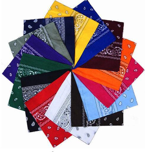Newest Cotton Blend Hip-hop Bandanas Scarf For Women Men Male Female Head Scarves Wristband Vintage Pocket Towel Hot Selling