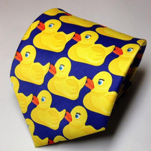 Cartoon Lovely Yellow Duck Tie Men's Fashion Print Casual Character Necktie Wedding Party Barney Duck Ties(China)